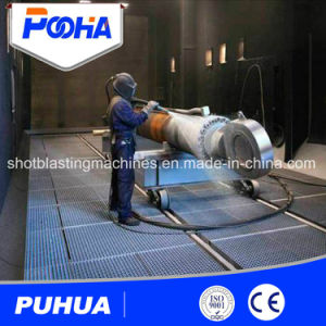 Manual Sand Blasting Chamber with Shot Automatic Recovery System pictures & photos