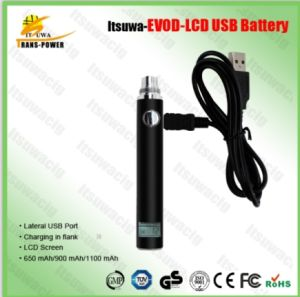 2015 Amigo Itsuwa Best Selling Evod LCD USB Battery Hot Sell in Korea