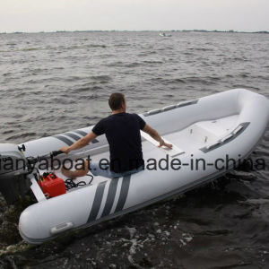Liya 4.2-5m PVC Inflatable Rubber Boat Pontoon Boat for Sale pictures & photos