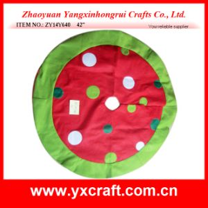 Christmas Decoration (ZY14Y640 42′′) Christmas Tree Skirt Decoration Custom Skirt pictures & photos