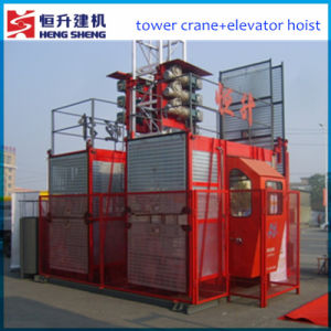 Rack and Gear Building Hoist for Sale by Hstowercrane pictures & photos
