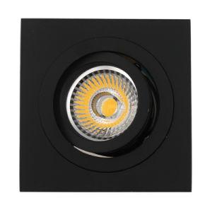 Lathe Aluminum GU10 MR16 Square Tilt Recessed LED Down Light (LT2303B) pictures & photos