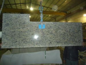 Giallo Cecilia Light Granite Prefabricated Countertops pictures & photos