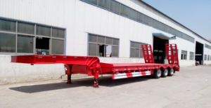 60tons 3-Axle Low Bed Trailer Truck  pictures & photos
