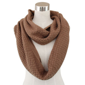 Fashion Acrylic Knitted Winter Infinity Scarf (YKY4351) pictures & photos