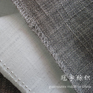 Brushed Backing Compound Thick Imitation Linen Fabric pictures & photos
