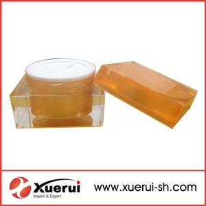 Cosmetic Packaging Rectangle Acrylic Cream Jar pictures & photos