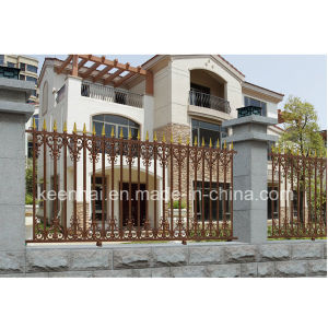 China Wholesale Artistic Design Aluminum Garden Fence pictures & photos