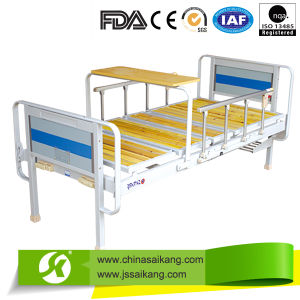 Hospital Double Crank Maunal Medical Bed (CE/FDA/ISO) pictures & photos