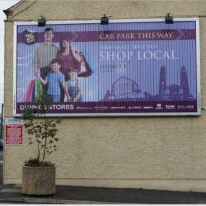 Highway Over Street Aluminium Trivision Outdoor Advertising Billboard