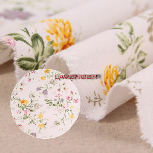 Elegant Flower Patterns 250GSM Home Textile Canvas Fabric pictures & photos