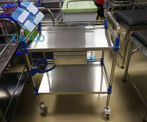 Factory Direct Price Ce ISO Approved Stainless Steel Hospital Moving Instrument Trolley pictures & photos