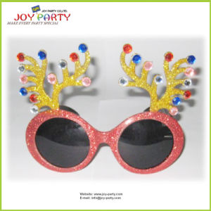 Antler Christmas Party Glasses with Big Eyes