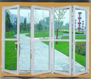 Cheap Price Double Glazing PVC Folding Door UPVC Door pictures & photos