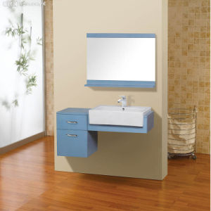 Wall-Mount Undercounter Solid Wood Doube Bathroom Vanity Cabinet pictures & photos