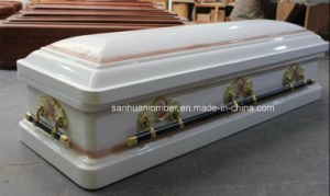 New Model Wood Casket with Metal Handles pictures & photos