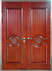 Panel Design Steel Security Double Door pictures & photos