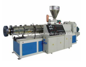High Output Plastic Conical Twin Screw Extruder Machinery pictures & photos