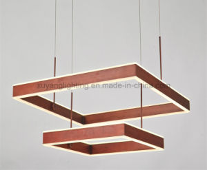 Square LED Pendant Light Double Layer with Copper Color pictures & photos