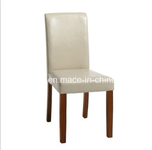 2 Pieces PU Dining Chairs with Wooden Leg Used in Dining Room and Kitchen Room pictures & photos