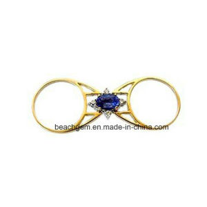 Special Design 14k Gold Plating Ruby/Sapphire Flip Ring (R1393) pictures & photos