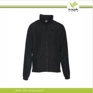 China Custom Mens Plain Black Windbreaker Jacket with Hood (KY ...