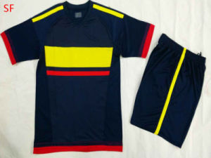 2015 Hot Sale Colombia Yellow Blue Soccer Jersey pictures & photos