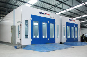 Heated Paint Spray Booth Downdraft Vehicle Spray Booth pictures & photos