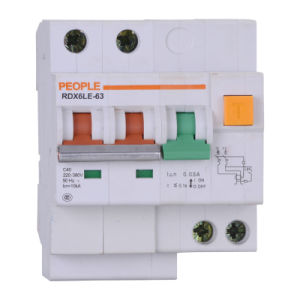 Circuit Breaker for Building with Leakage Protection 30mA Rdx6le-63 pictures & photos