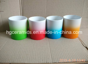 Gradual Change Color Mug, Spray Color Ceramic Mug pictures & photos