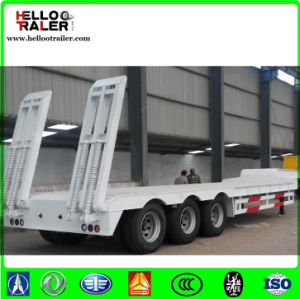 Tri Axle 60ton Low Bed Pulling Semi Trailer pictures & photos