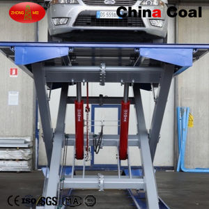 Hydraulic Scissor Welding Manual Mobile Car Lift pictures & photos