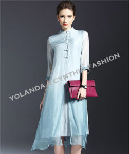 Chiese Style Silk Joint Ladies Long Dress