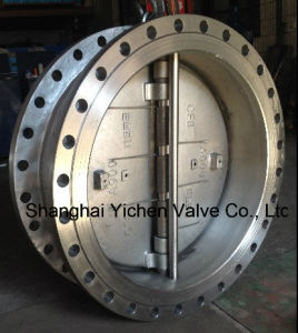 Spring Loaded Dual Plate Flange Stainless Steelcheck Valve (H46) pictures & photos