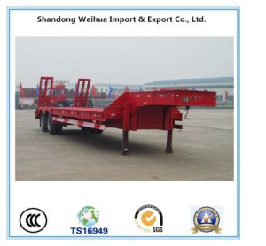 Advanced 3 Axles Low Bed Semi Trailer From China Supplier pictures & photos