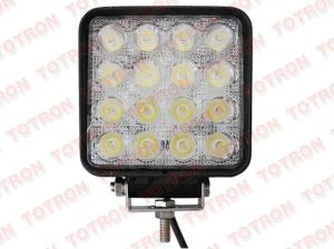 High Power LED Working Light 48W 3600lm 9-32V for Truck, Folklifts, Car, Machine (T1048)