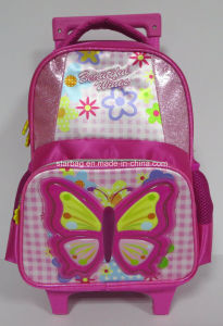 "14""Butterfly School Trolly Bag"