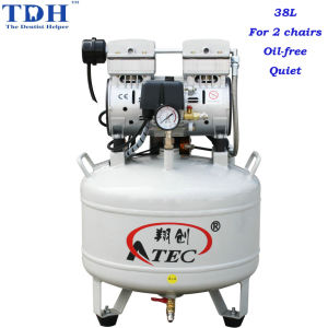 Oilless & Noiseless 38L Dental Air Compressor (TDH-80/38) pictures & photos