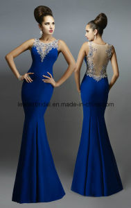 Royal Blue Formal Gowns Mermaid Sheer Evening Ladies Dresses Ra1001 pictures & photos
