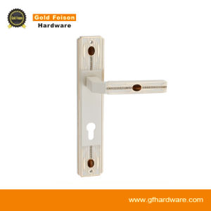 High Quality Zinc Alloy Door Handle on Plate (P152-Z143 IV-GP) pictures & photos