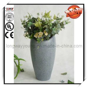 21 Inches Marble Finish Fiberglass Planter (YP1129A-21H-LA31)
