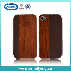 Phone Accessory Mobile Phone Wooden+PU Case for iPhone 5 pictures & photos