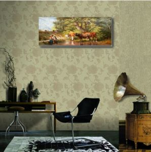 Hand Made Oil Painting of Cattle pictures & photos