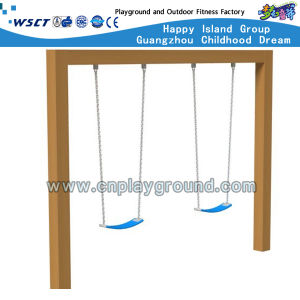 Discount Playground Equipment Playground Wooden Swing Set for Sale (HD-SW-W005) pictures & photos