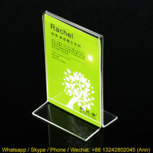 Various Size Clear T Shape Acrylic Display, Menu Holder pictures & photos