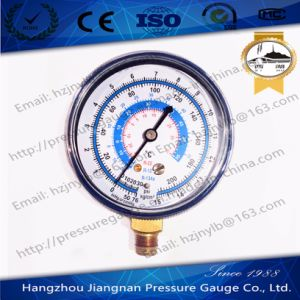 Blue Steel Refrigerant Pressure Gauge with Brass Connector pictures & photos