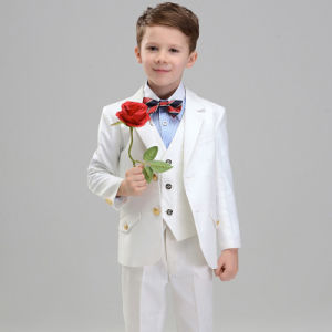 6-12 Years Old New Fashion Boys White Blazers Suits pictures & photos