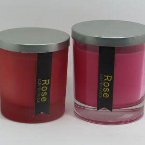 Wholesale Filled Scented Glass Jar Soywax Candle with Lid pictures & photos