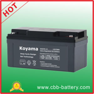 70ah 12V Deep Cycle Battery Gel Battery for Floor Machine pictures & photos
