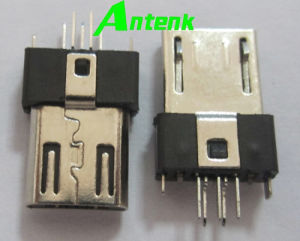 Micro USB Connectors with 5p Plug Straddle B Type pictures & photos